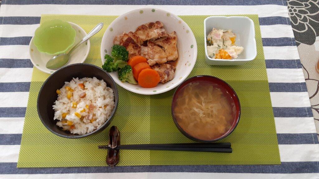鹿児島 デイサービス スター倶楽部 昼食 照り焼きチキン定食