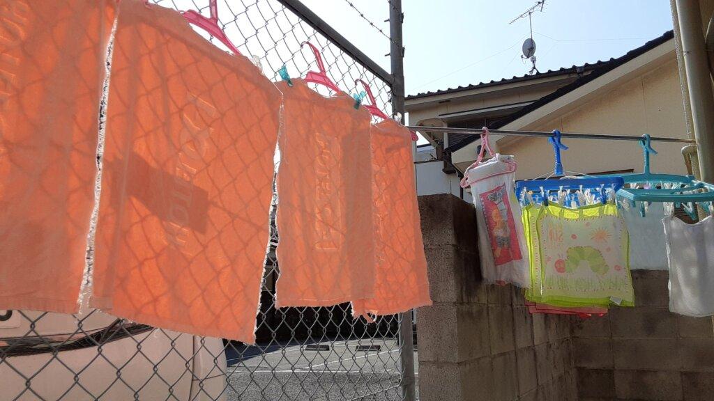 鹿児島 デイサービス スター倶楽部 洗濯物