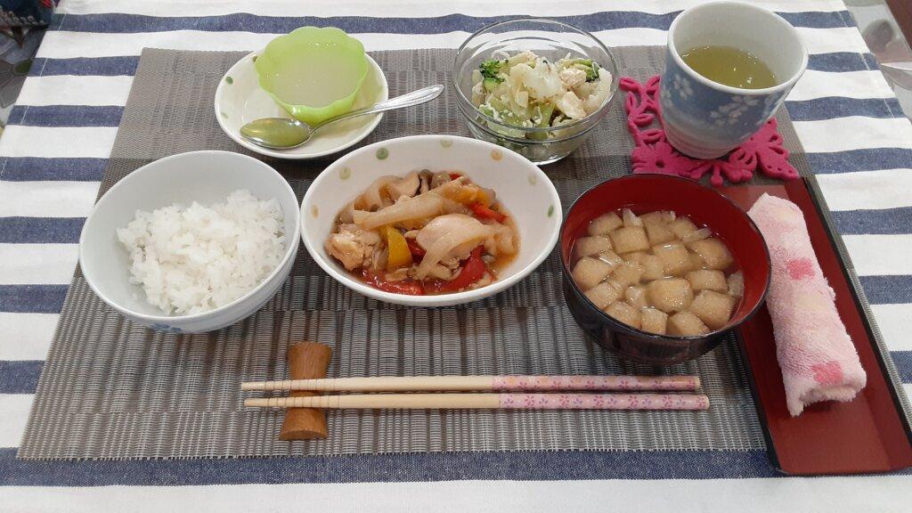 鹿児島 デイサービス スター倶楽部 昼食 酢鶏定食
