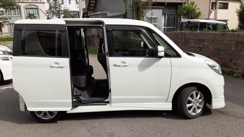 鹿児島 デイサービス スター倶楽部 送迎車両 ソリオ 両側スライドドア
