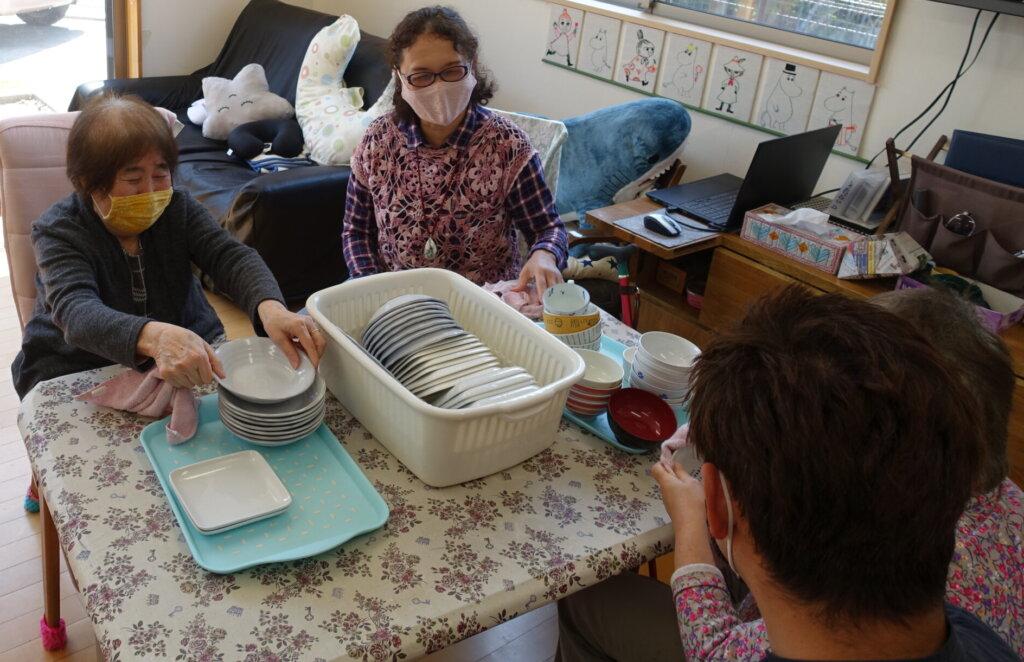 鹿児島 デイサービス スター倶楽部よしの 茶碗拭き ADL動作