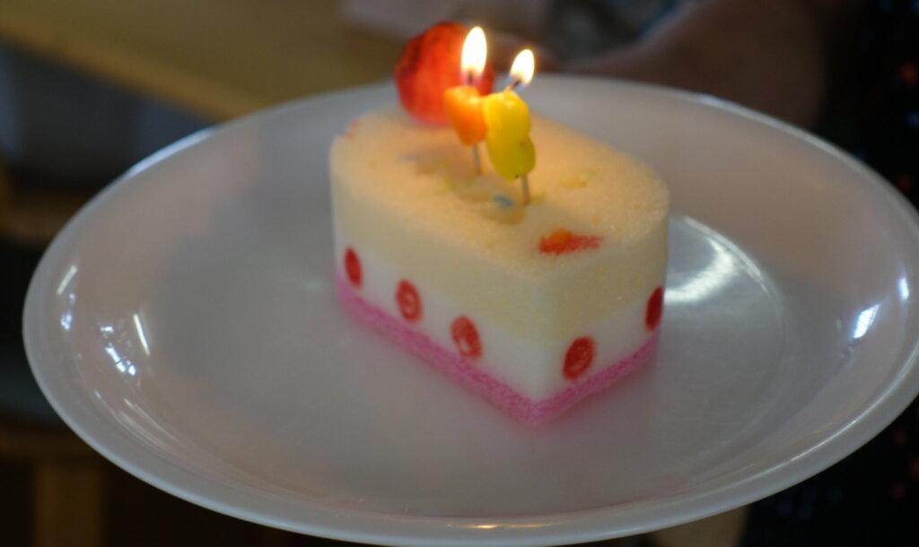 鹿児島 デイサービス スター倶楽部よしの 誕生日 工作ケーキ
