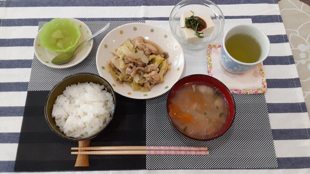 鹿児島 デイサービス スター倶楽部 ランチ 野菜炒め定食