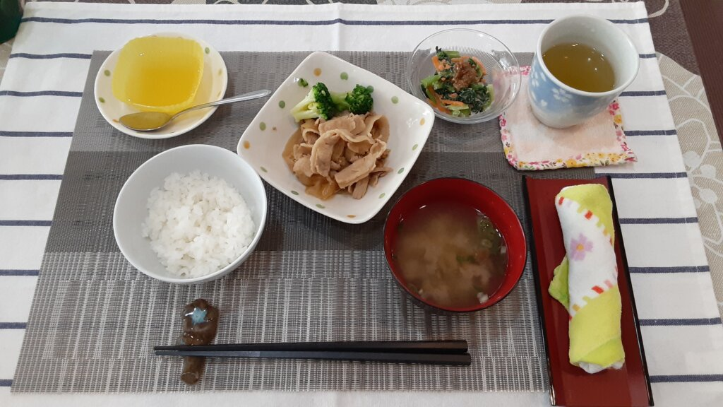 鹿児島 デイサービス スター倶楽部 ランチ 生姜焼き定食