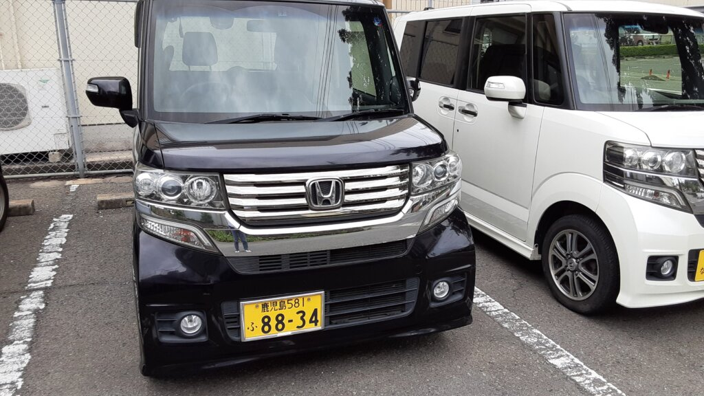 鹿児島 デイサービス スター倶楽部 送迎車両 N-Box紫