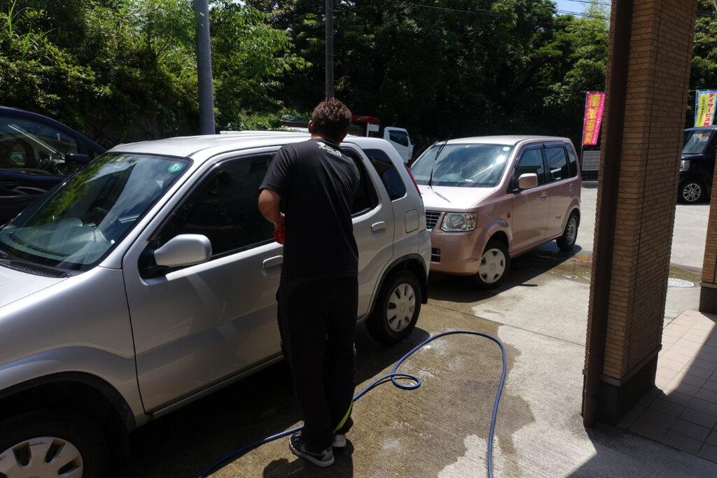 鹿児島 デイサービス スター倶楽部よしの 洗車 車
