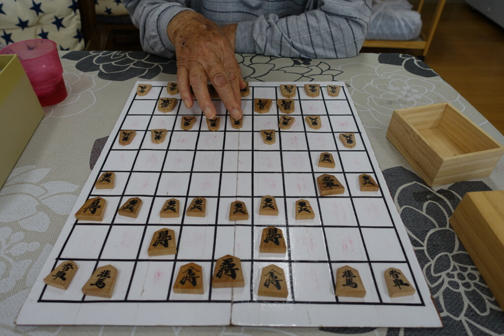 鹿児島 デイサービス スター倶楽部よしの 将棋 対局