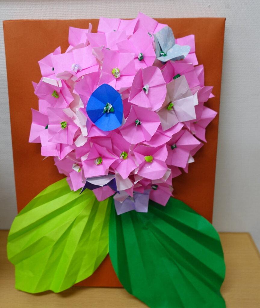 鹿児島 デイサービス スター倶楽部よしの 紫陽花 作品