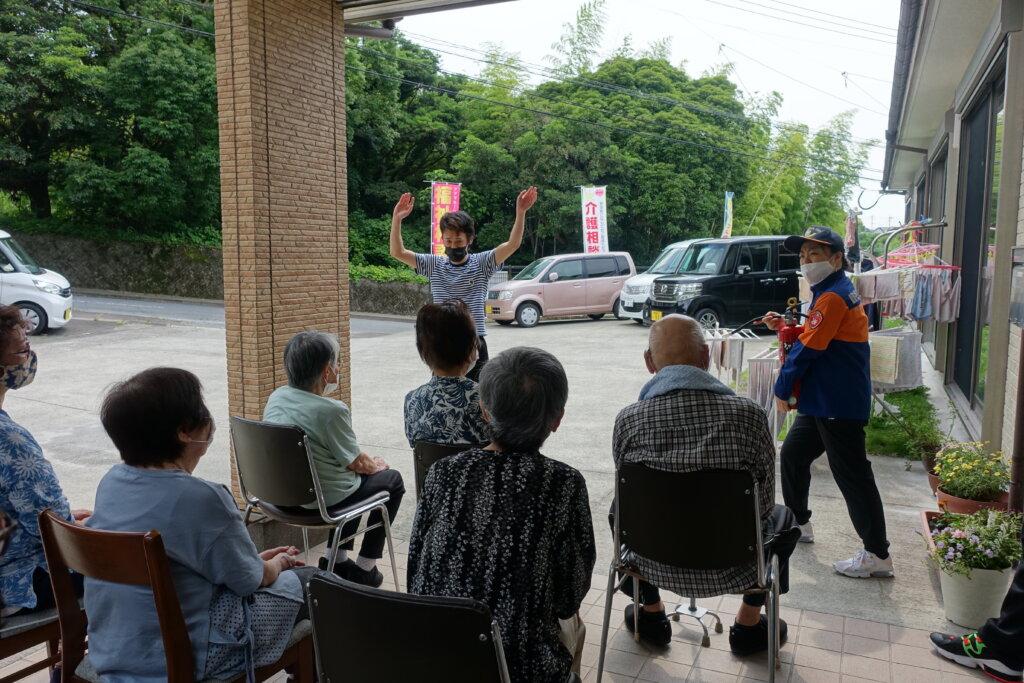 鹿児島 デイサービス スター倶楽部よしの 避難訓練 活動