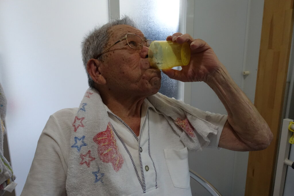 鹿児島 デイサービス スター倶楽部 水分補給 入浴