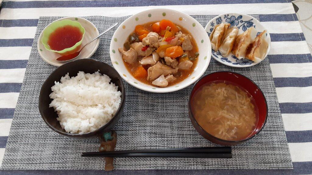 鹿児島 デイサービス 地域密着型通所介護事業 スター倶楽部 ランチ 酢鶏定食