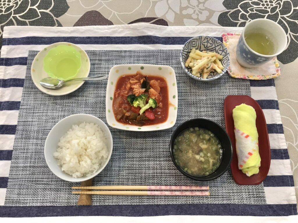 鹿児島 デイサービス 地域密着型通所介護事業 スター倶楽部 ランチ 鶏のトマト煮