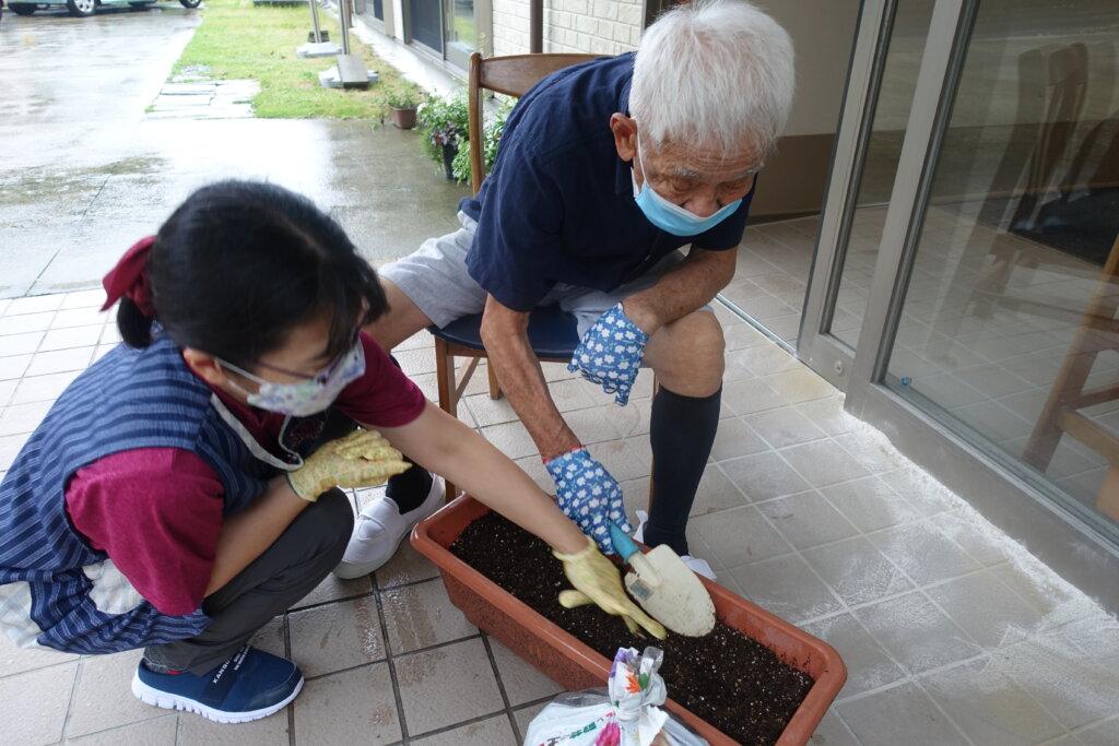 鹿児島スター俱楽部よしの ひまわり 園芸活動